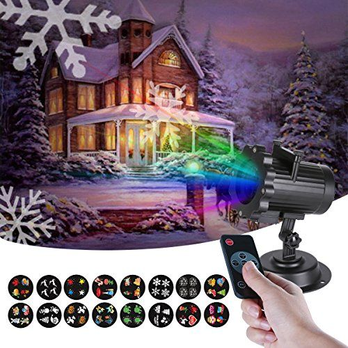 Projecteur Extérieur Noël LED avec Motifs Animées ou Statiques,Imperméable IP65 Lampe Décorative de Noël avec Lumières Lumineux éclairage à…