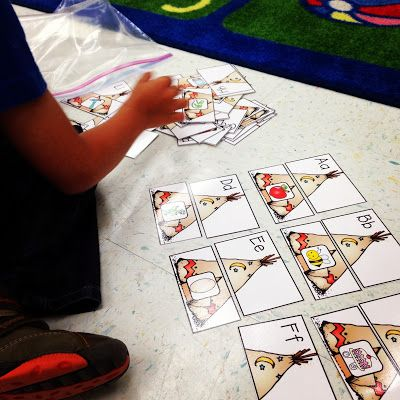 """""""Building Teepees"""" Letter/Sound Match (from Kindergarten Smiles)"""