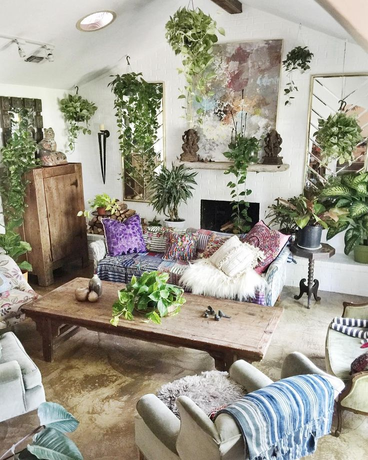 17 best ideas about bohemian living rooms on pinterest bohemian living bohemian living spaces - Plant decorating ideas tasteful nature ...