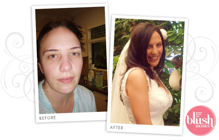 Bride - Before and After Makeup Sydney