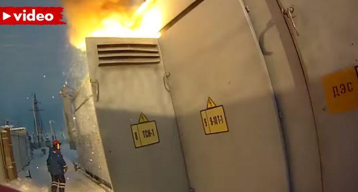 Curto-Circuito Provoca Explosão e Incêndio Em Transformador Elétrico