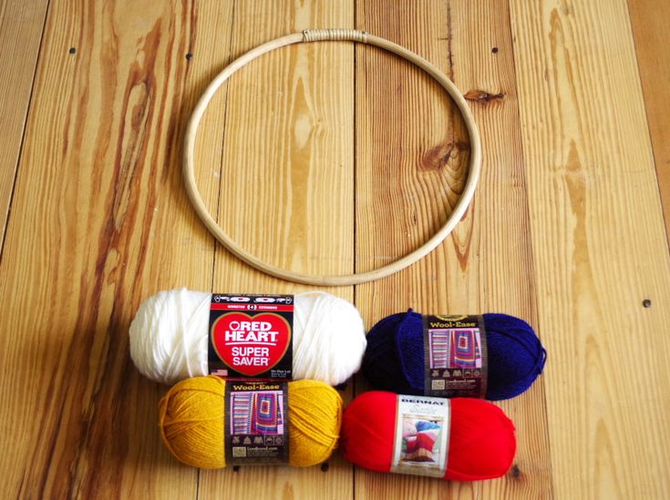 Circular Yarn Wall Hanging - Plaster & Disaster | Yarn ...