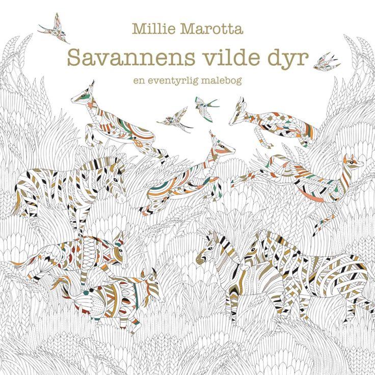 Savannens vilde dyr af Millie Marotta