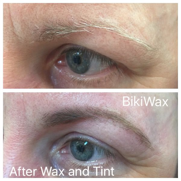 No more grey hairs on eyebrows with tinting service