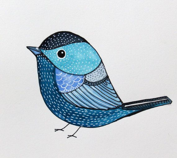 Bird Art / Collectible Art/ Blue Bird / Wal Decor by sublimecolors, $24.99