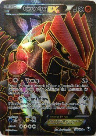 Amazon.com: Pokemon - Groudon-EX (Full Art) (106) - BW - Dark Explorers - Holofoil: Toys & Games