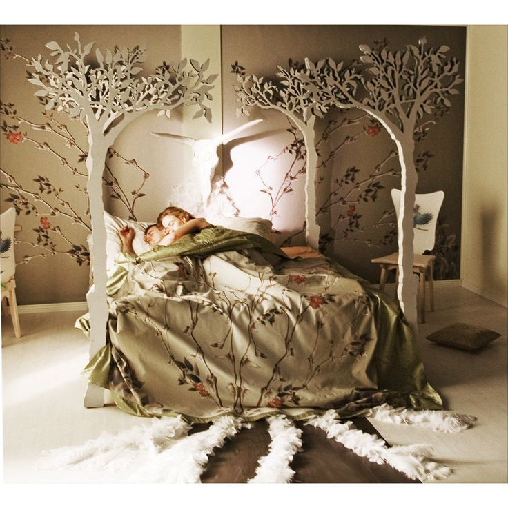 Under the apple tree canopy bed - Modern romantic Scandinavian design Sleep Therapy woodland fairy tale by lummedesigns on Etsy https://www.etsy.com/listing/18999276/under-the-apple-tree-canopy-bed-modern