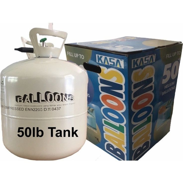 Pure Helium Tank Party Kit with 60 Balloons 50lb | Buy Party Supplies