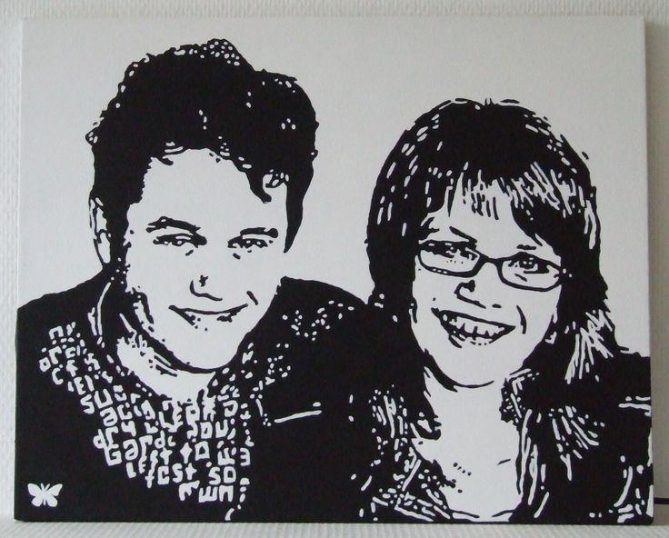 Schilderij van Alain en Kristy
