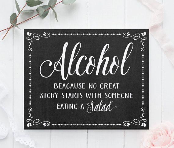 Chalkboard Wedding Sign, Chalkboard Wedding Alcohol Sign, Chalkboard Bar sign, Alcohol sign, Wedding alcohol sign, Rustic wedding signs