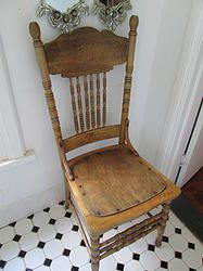 High Carved Back Vintage Chairs