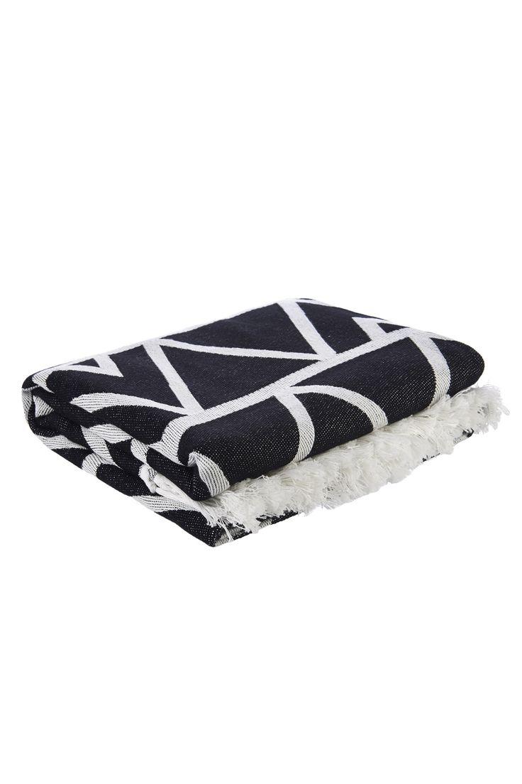 Africa Sea you Soon Black Beach Towel