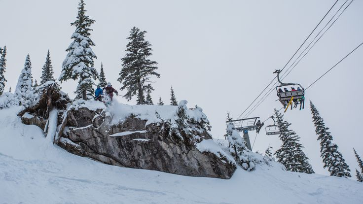 Timber Bowl - Hollywood. Probably the most audacious entrance into the Timber Bowl. Just off the top of the Timber Chair, under watchful eyes of the public.  Definitely experts only territory.