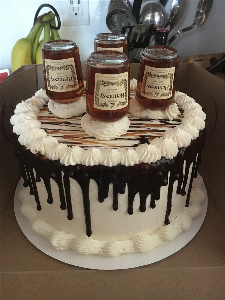 Hennessy getrnkter Kuchen w KaramellPekannussFllung