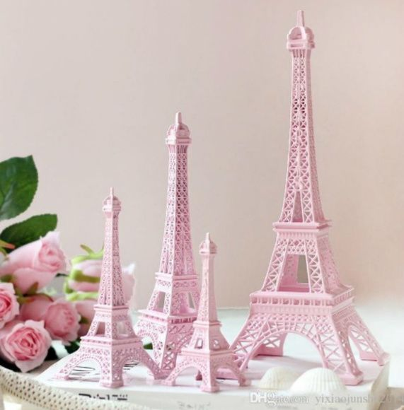 100 peças Torre Eiffel Miniatura Rosa