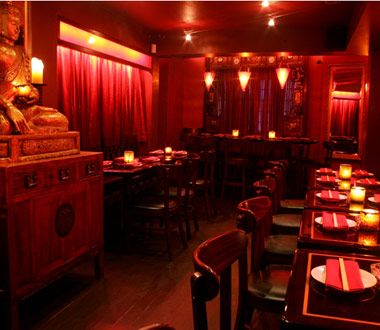 dragonfly restaurant san juan puerto rico I love how dim the lights are.