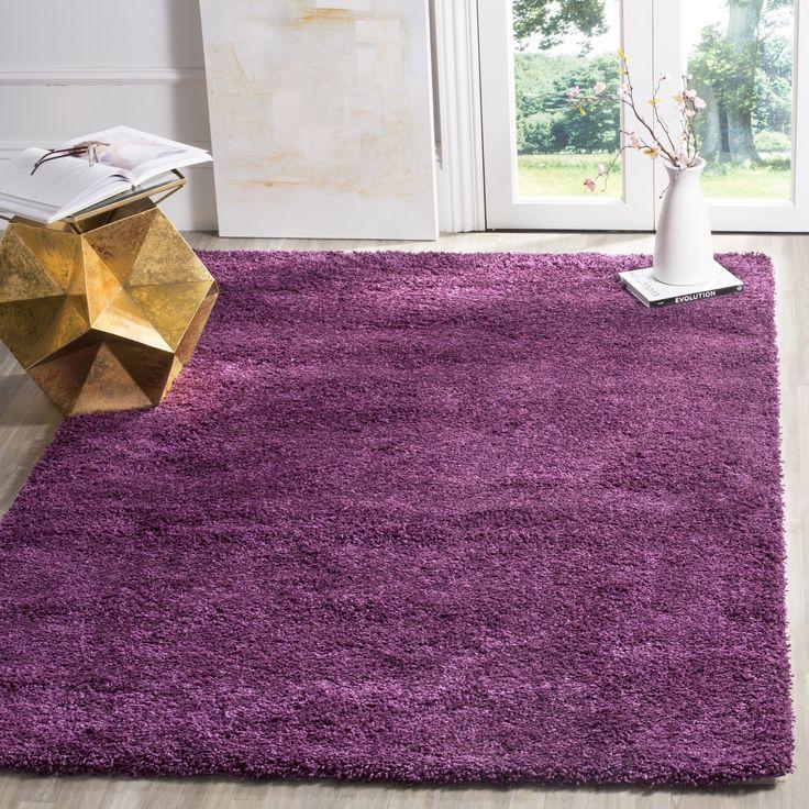 safavieh california cozy plush purple shag rug 3u0027 x 5u0027 sg151
