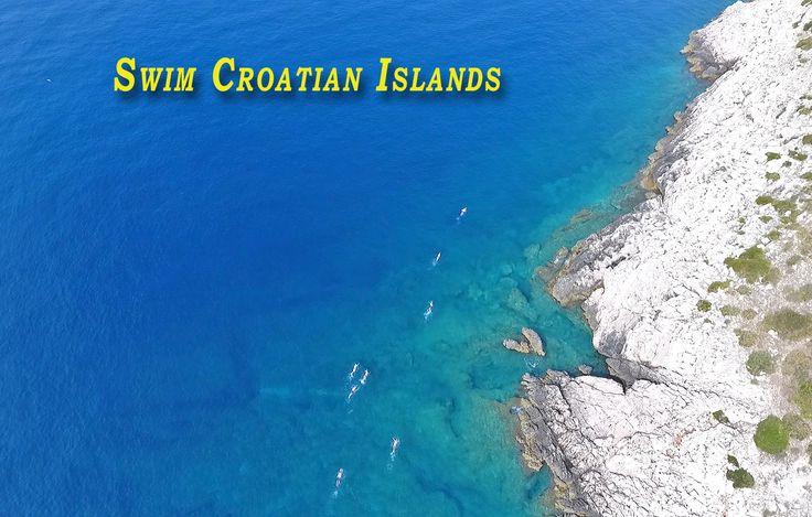 Drone captured this #Swim #Croatian Islands! Warm, blue, Adriatic sea!
