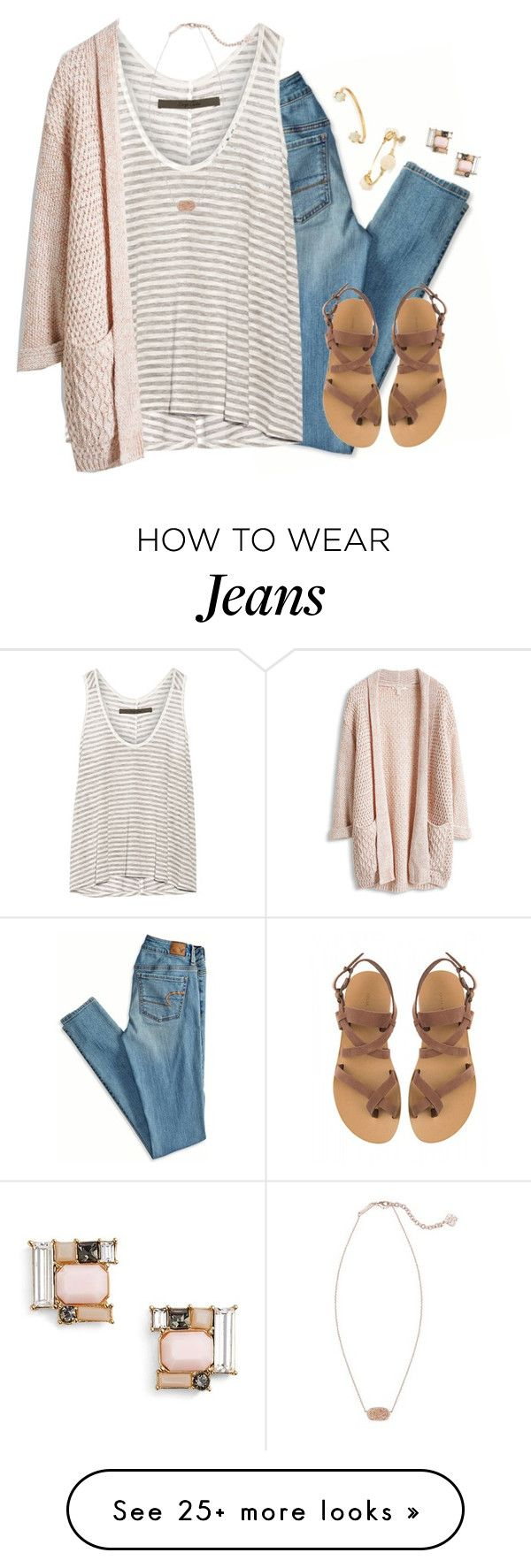 by kaley-ii on Polyvore featuring American Eagle Outfitters, Enza Costa, Kendra Scott, Valia Gabriel, Bourbon and Boweties, Lizzie Fortunato and Kate Spade