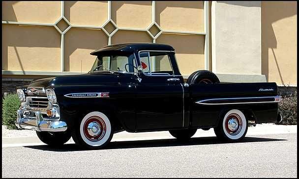 18 best 1958 and 1959 chevy trucks images on pinterest. Black Bedroom Furniture Sets. Home Design Ideas
