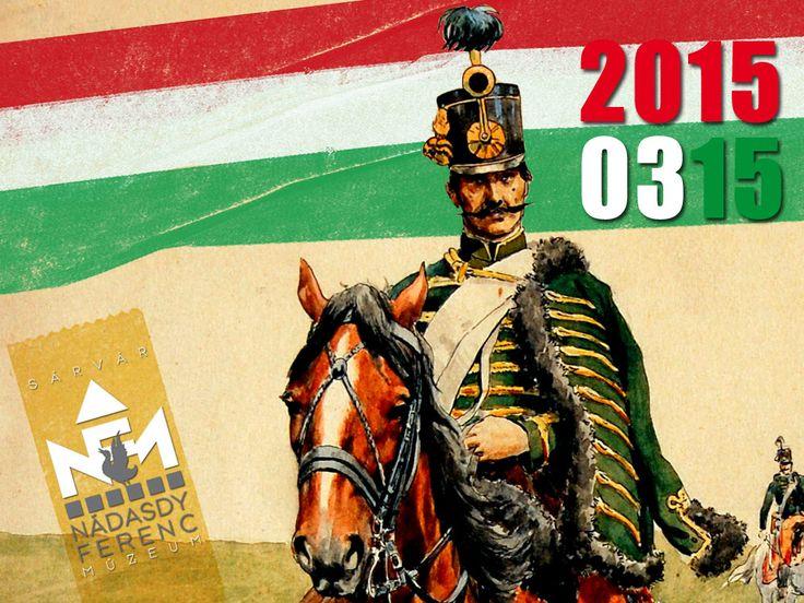 Huszáros, verbunkos gyorstalpaló a nemzeti ünnepen a sárvári múzeumban.