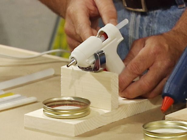 How to Build a Glue Gun Stand... Dripping glue is often unavoidable when working with a hot-glue gun. Here's an easy way to make a stand that'll catch any dripping glue..