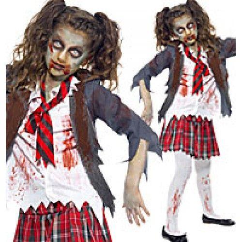 Zombie School Girl - Teen Costume  Halloween  Zombie School Girl -8829