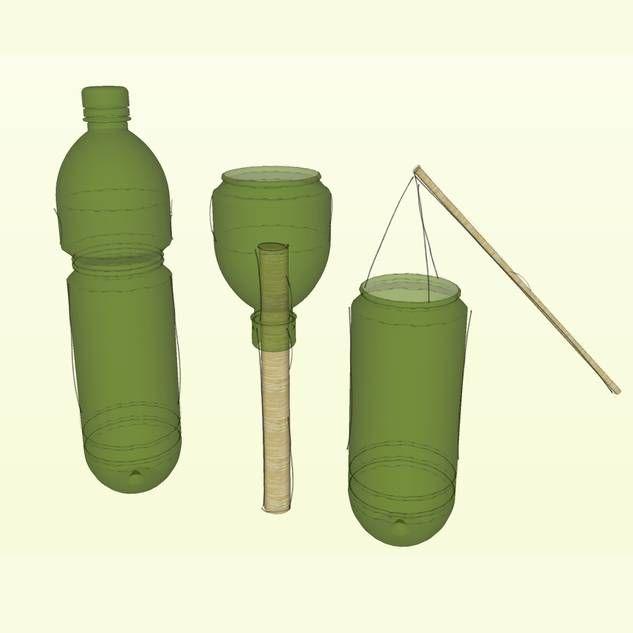 laterne aus pet flasche balkony garden pinterest. Black Bedroom Furniture Sets. Home Design Ideas