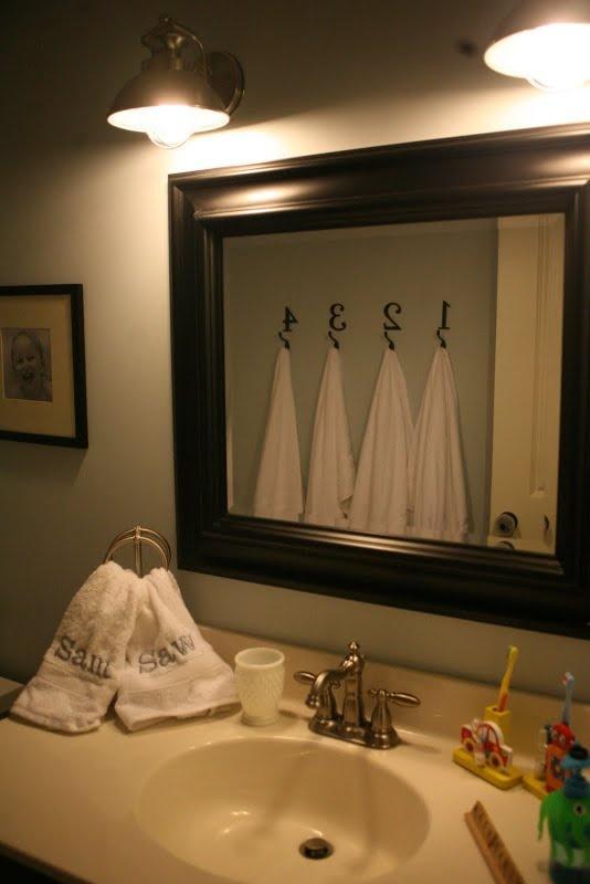 bigger frame around mirror : Bathroom : Pinterest