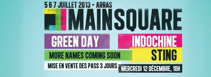 Main Square Festival 2013: les pass à la journée disponibles le 22 janvier 2013 | concertlive.fr