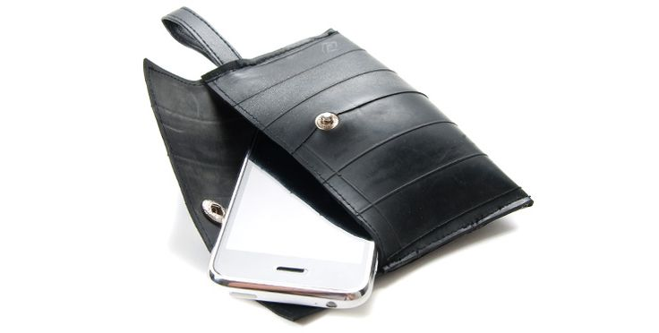 Gifts that give back - Recycled Tire Cell Phone Case   Looks great and proceeds benefit formerly trafficked women & landmine victims in Camb...