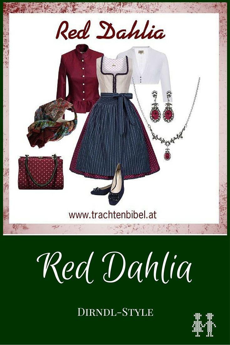 Der Dirndl-Style Red Dahlia ist in klassischen Dirndlfarben gehalten und mit schönen Accessoires wird er zum edlen Look. Hier klicken und nachshoppen!