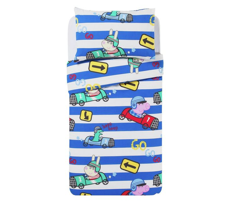 Buy Peppa Pig George Speed Toddler Bed in a Bag Set at Argos.co.uk, visit Argos.co.uk to shop online for Limited stock Home and garden, Limited stock clearance