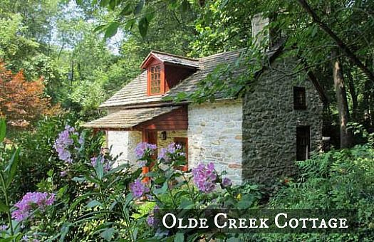 Olde Creek Cottage in Pennsylvania: A small stone house in Lancaster, Pennsylvania. Olde Creek Cottage dates back to the early 1700s and is thought to have been built by French settlers.