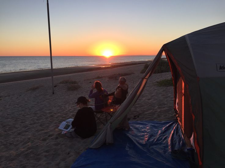 Camping at the beach, Mexico// rocky point