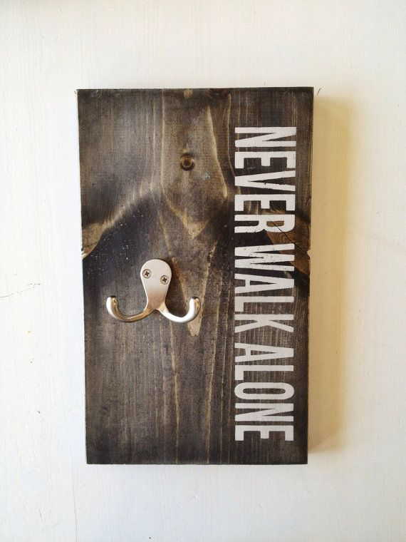 """Dog Leash Hanger """"Never Walk Alone"""" Hand Painted on Etsy, $25.46 CAD"""