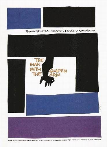 "Saul Bass  Motion Design pour le film ""The man with the golden arm"", 1955"