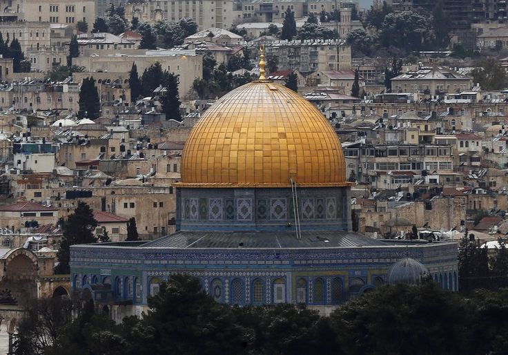 ONGOING TENSIONS OVER TENSIONS OVER TEMPLE MOUNT STOKED BY JORDANIAN FUNDED CARPET Snow on the Dome of the Rock in the compound known to Muslims as Noble Sanctuary and to Jews as Temple Mount, in Jerusalem's Old City is seen from the Mount of Olives January 9 Photo By: EUROPEAN JEWISH ASSOCIATION