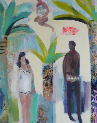 becky blair * artist - paintings: summer lovers