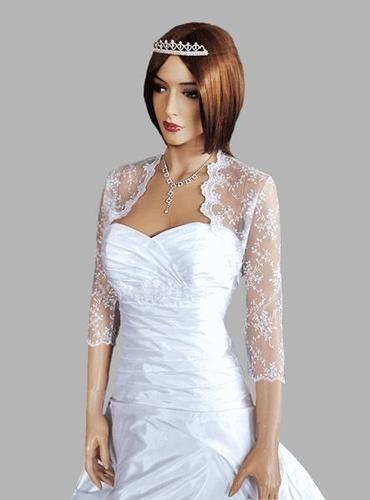 Wedding New Top Lace Bolero/Shrug/Jacket Three Quarter Sleeve S M L XL XXL - B29   eBay