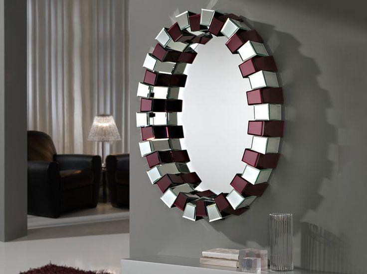 espejos moderno de cristal modelo prisma oval amatista tu tienda online de espejos modernos