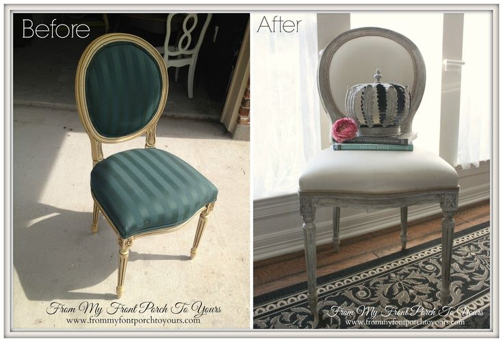 Painting Fabric with Chalk Paint - From My Front Porch To Yours blog