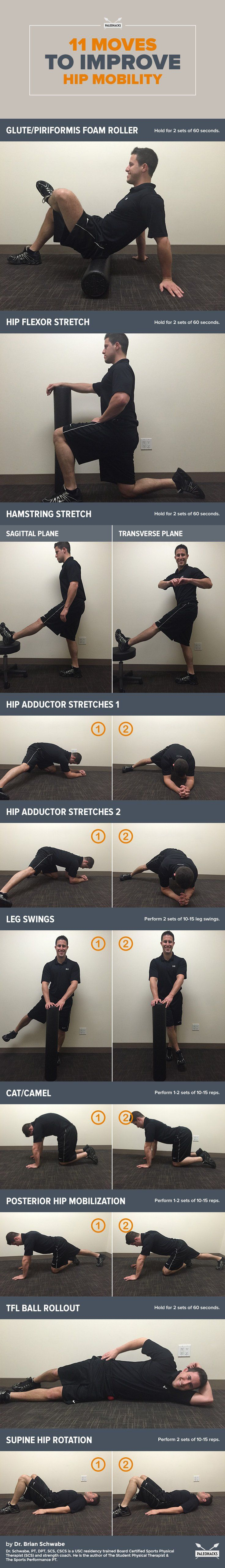 11 Hip Mobility Exercises - Undo the damage of sitting with these smooth moves!