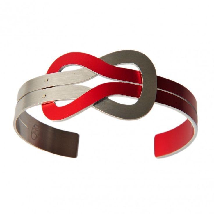 Platte Knoop armband