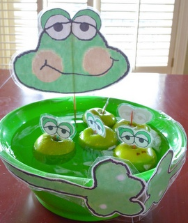 """""""Bobbing for Frogs"""" printable party game"""