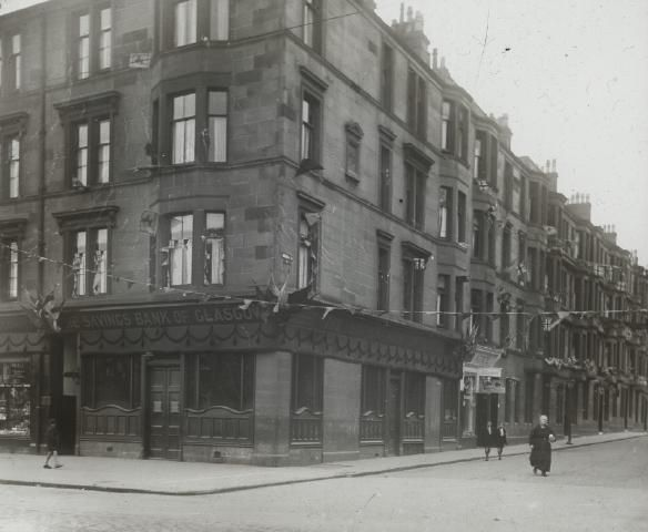 Savings Bank, Kirkwood St Rutherglen - from a collection of 99 glass slides of local Ruth...