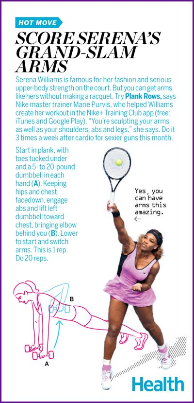 One move for Serena Williams-strong arms!   Health.com