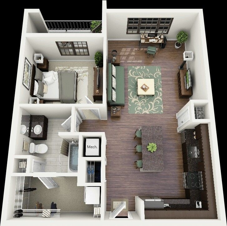 Best Floorplans Images On Pinterest Apartment Layout One