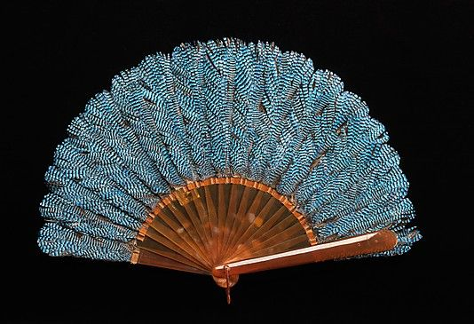 Fan  Rodeck Brothers  Date: 1895 Culture: Austrian Medium: synthetic, feather Dimensions: 9 3/4 in. (24.8 cm) Credit Line: Brooklyn Museum Costume Collection at The Metropolitan Museum of Art,