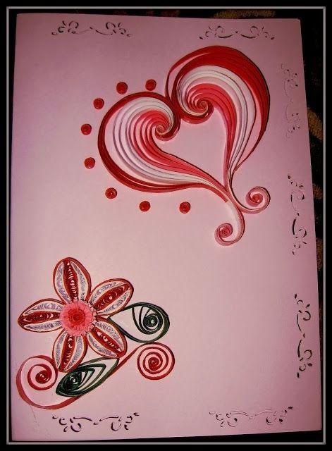 Felicitare inimă & floare